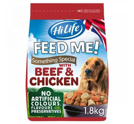 HiLife Feed Me! Something Special Beef & Chicken Semi Moist Dog Food - 1.8kg