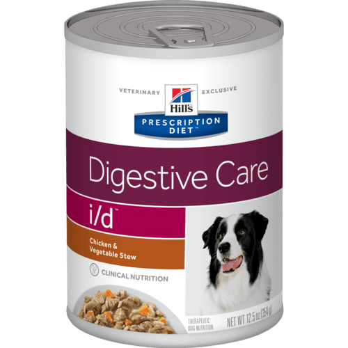 Hill's Prescription Diet i/d Stew with Chicken and added Vegetables Wet Dog Food Can - 12 x 354g