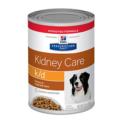 Hill's Prescription Diet k/d Stew with Chicken and Vegetables Wet Dog food Can - 12 x 354g