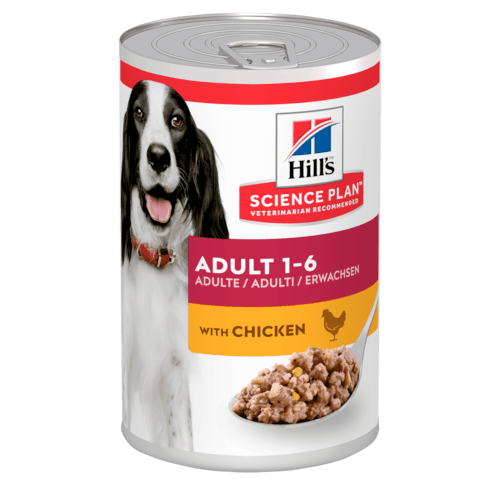 Hill's Science Plan Adult Canine Chicken Dog Food Cans 370g