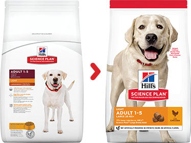 Hill's Science Plan Adult Light Large Breed Chicken Dry Dog Food- 14kg