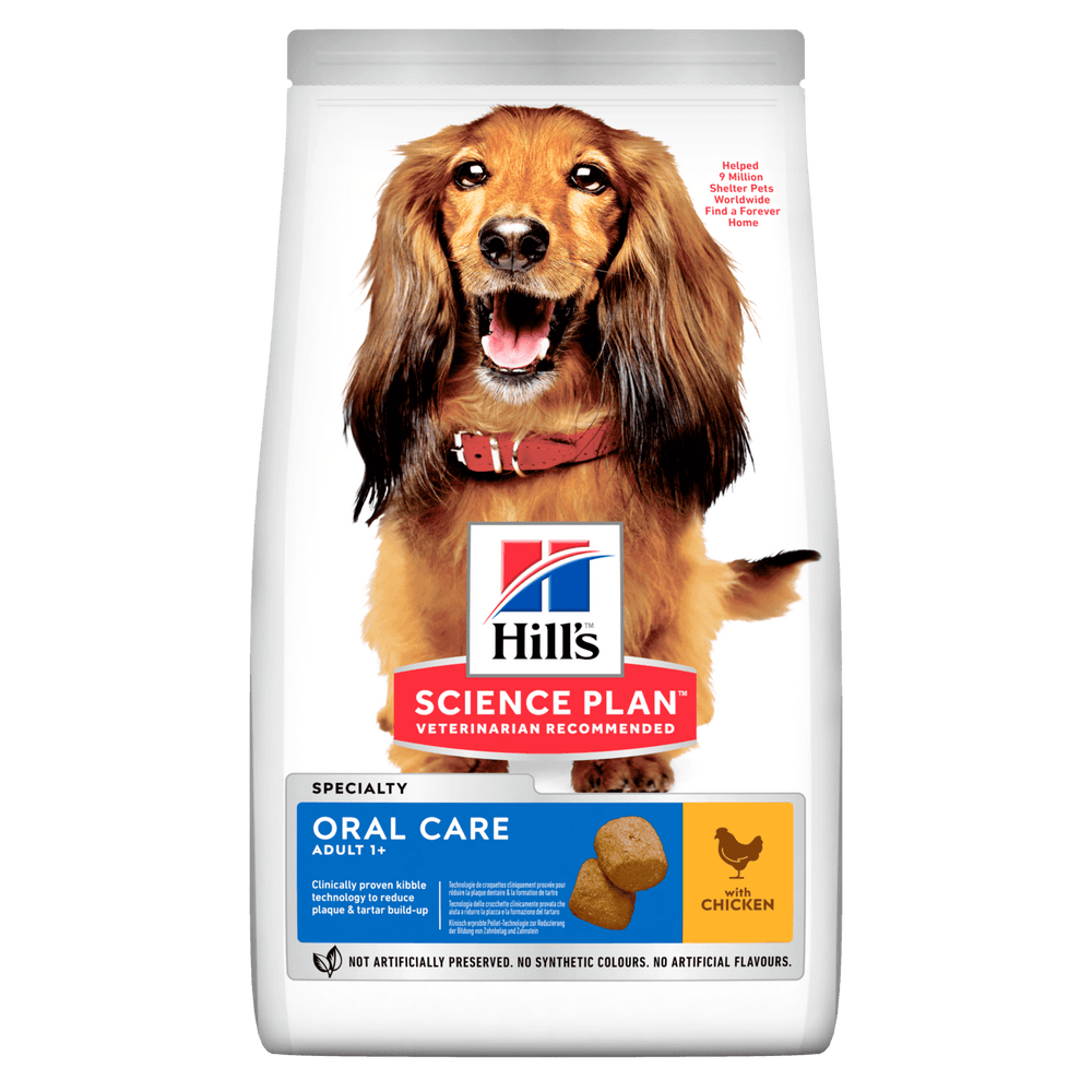 Hill's Science Plan Adult Oral Care Chicken Dry Dog Food - 2kg
