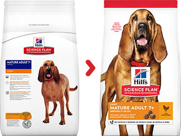 Hill's Science Plan Mature Adult Light Medium Chicken Dry Dog Food - 2.5kg
