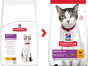 Hill's Science Plan Senior Healthy Ageing Chicken Dry Cat Food - 1.5kg