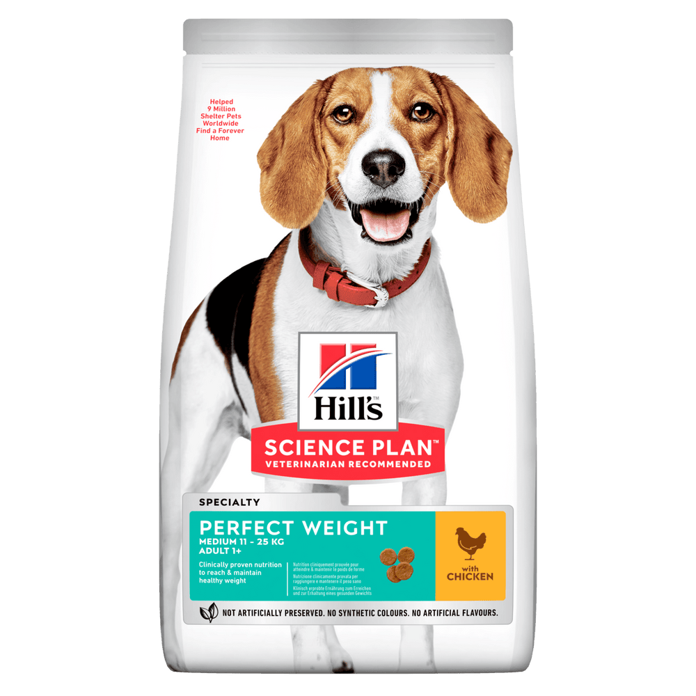 Hill's Science Plan Perfect Weight Medium Adult Dry Dog Food - 2kg