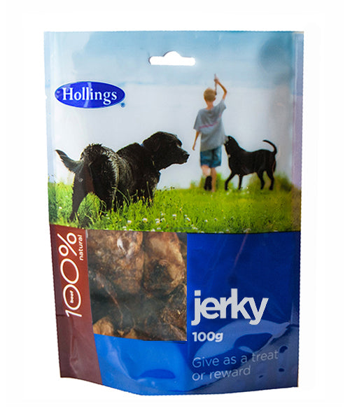 Hollings Puffed Jerky Display 100g