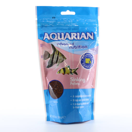 Aquarian Advanced Nutrition Slow Sinking Pellets Fish Food  284g