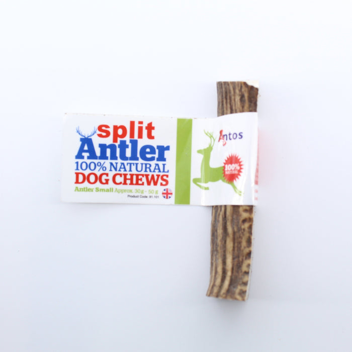 Antos Antler Split Natural Dog Chew Small 30 - 50g