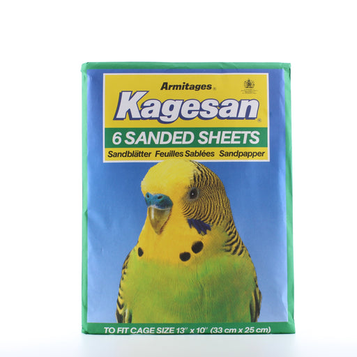 Kagesan Sanded sheets No 4 Green 6 per pack Cage size 33 x 25 cm