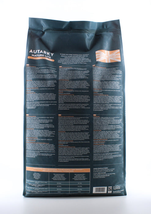 Autarky Adult Mature Lite Succulent Salmon Dry Dog Food 12 kg - 1