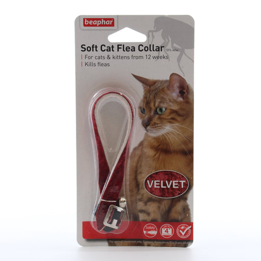 Beaphar Soft Cat Flea Collar Velvet 30cm Assorted