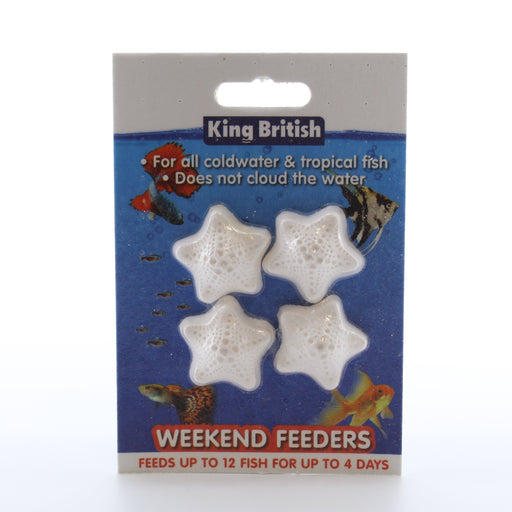 King British Weekend Feeders for tropical and coldwater fish