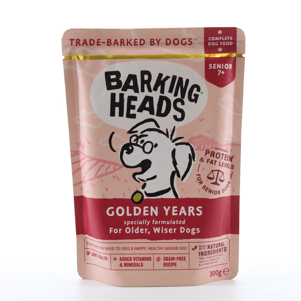 Barking Heads Golden Years Wet Senior 7+ Dog Food Pouches 10 x 300g