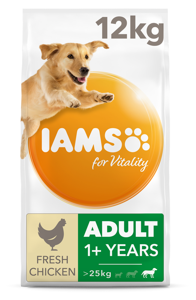 Iams Adult Large Chicken Dry Dog Food 12kg