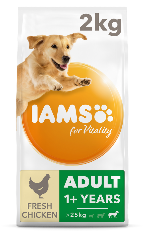 IAMS for Vitality Adult Large Breed With Fresh Chicken Dry Dog Food 2kg