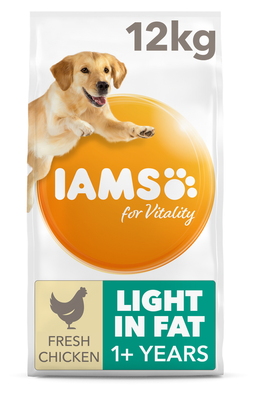 Iams Light in Fat with Fresh Chicken Dry Dog Food 12kg