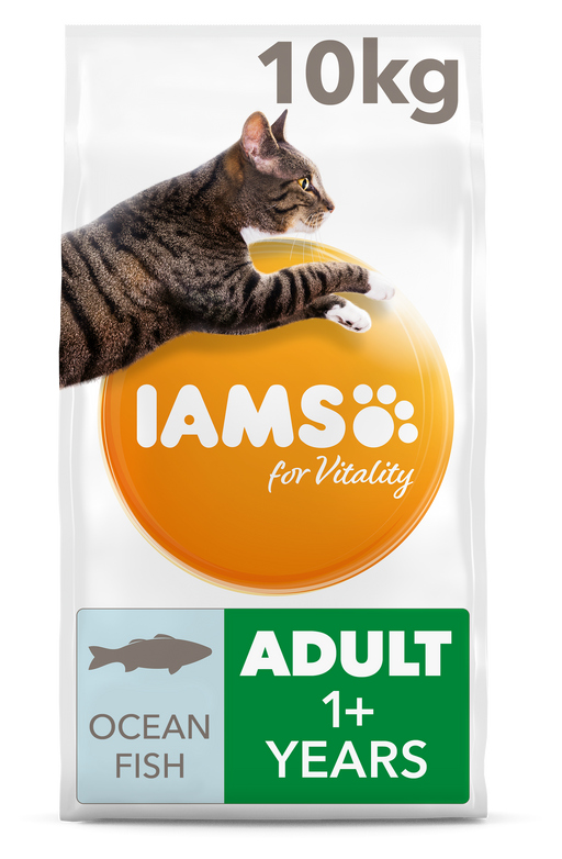 Iams for Vitality With Ocean Fish Adult Dry Cat Food 10kg
