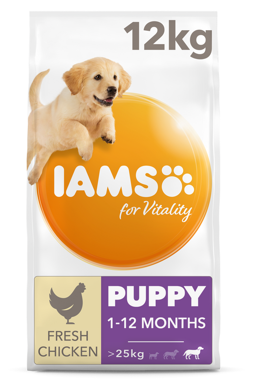 Iams Puppy/Junior Large Breed Chicken Dry Dog Food 12kg