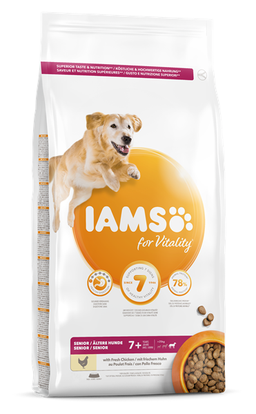 Iams Senior Large Breed Chicken Dry Dog Food 12kg