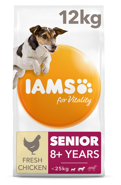 Iams Senior Small/Medium Breed Chicken Dry Dog Food - 12kg
