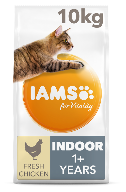 Iams for Vitality Indoor With Chicken Dry Cat Food 10kg