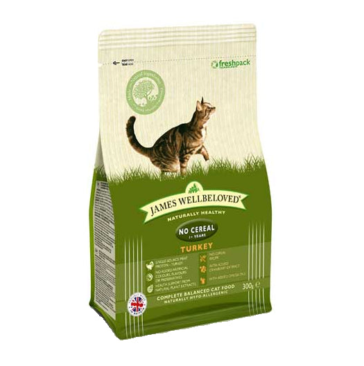 James Wellbeloved Cereal Free Dry Cat Food with Turkey - 300g