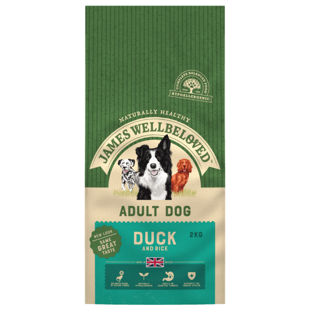 James Wellbeloved Duck & Rice Adult Dry Dog Food - 2kg