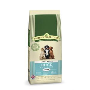 James Wellbeloved Duck & Rice Junior Large Breed Dry Dog Food - 15kg
