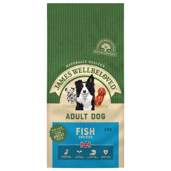 James Wellbeloved Fish & Rice Adult Dry Dog Food - 2kg