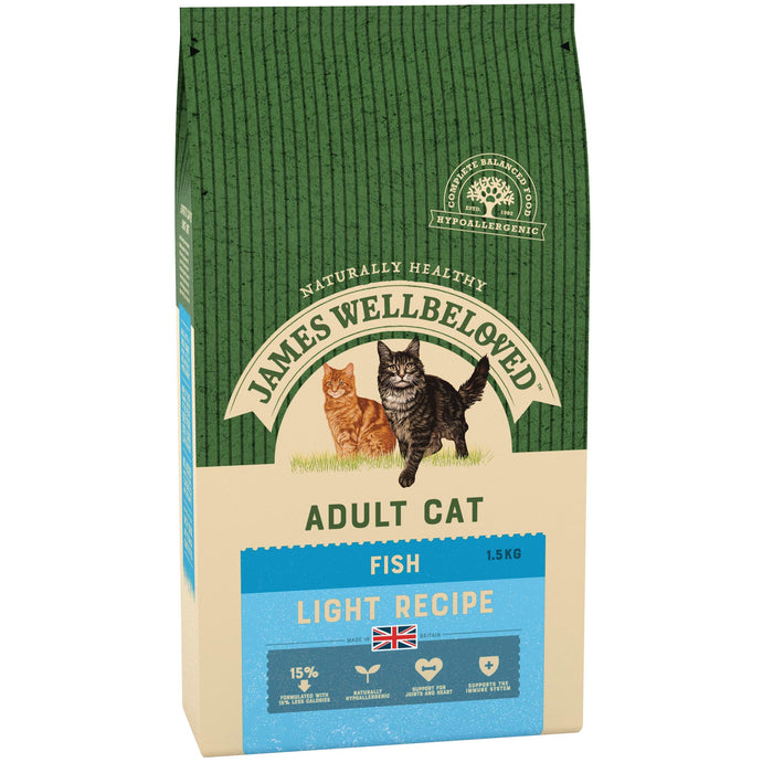 James Wellbeloved Fish & Rice Light Dry Cat Food - 1.5kg