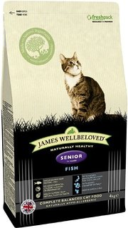 James Wellbeloved Fish & Rice Senior Dry Cat Food - 4kg