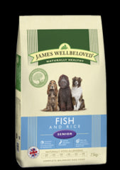 James Wellbeloved Fish & Rice Senior Dry Dog Food - 2kg