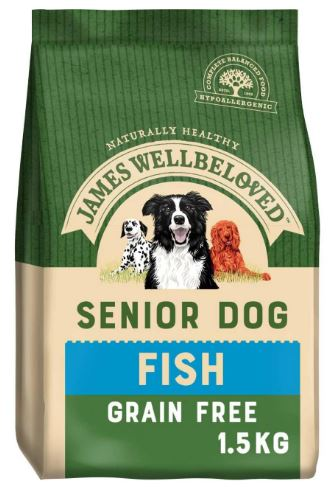 James Wellbeloved Fish Grain Free Senior Dry Dog Food - 1.5kg