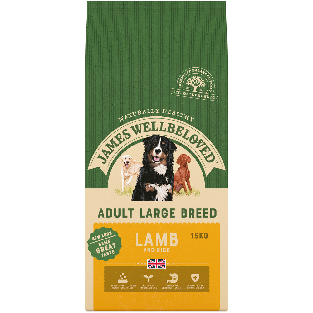 James Wellbeloved Lamb & Rice Adult Large Breed Dog Food - 15kg