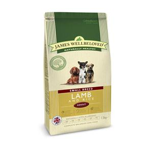 James Wellbeloved Lamb & Rice Adult Small Breed Dry Dog Food - 1.5kg