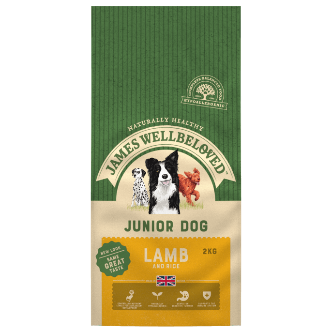 James Wellbeloved Lamb & Rice Junior Dry Dog Food - 2kg