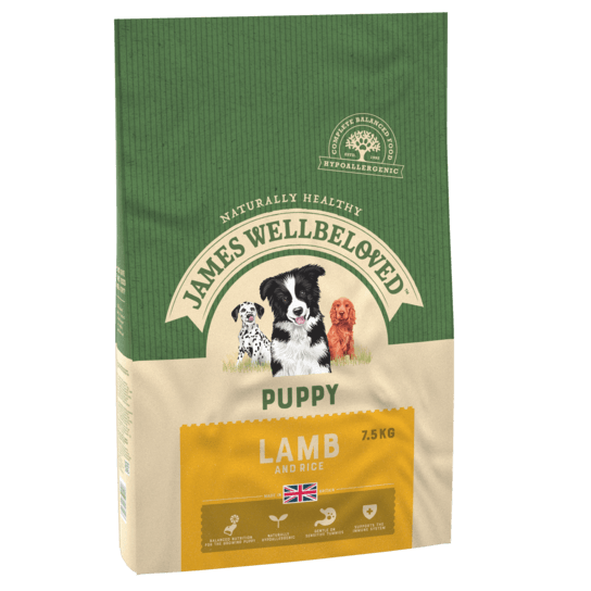 James Wellbeloved Lamb & Rice Puppy Dry Dog Food - 7.5kg