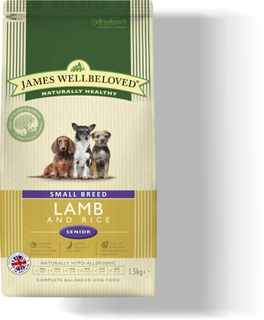 James Wellbeloved Lamb & Rice Small Breed Senior Dry Dog Food - 1.5kg