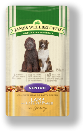 James Wellbeloved Lamb Senior Dog Pouches 10 Pack - 150g