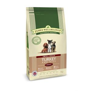 James Wellbeloved Turkey & Rice Adult Small Breed Dry Dog Food - 1.5kg