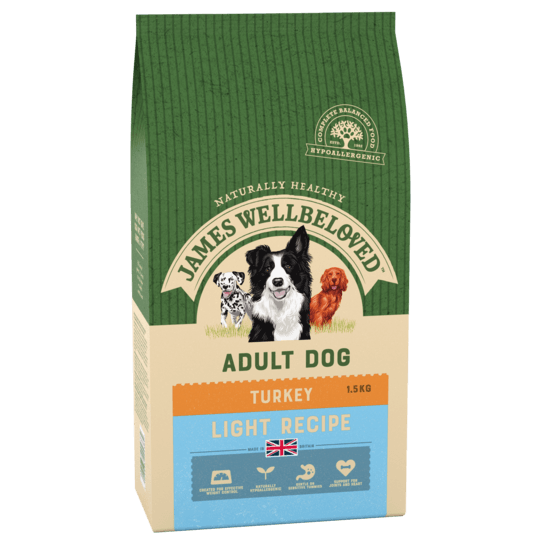 James Wellbeloved Turkey & Rice Light Dry Dog Food - 1.5kg