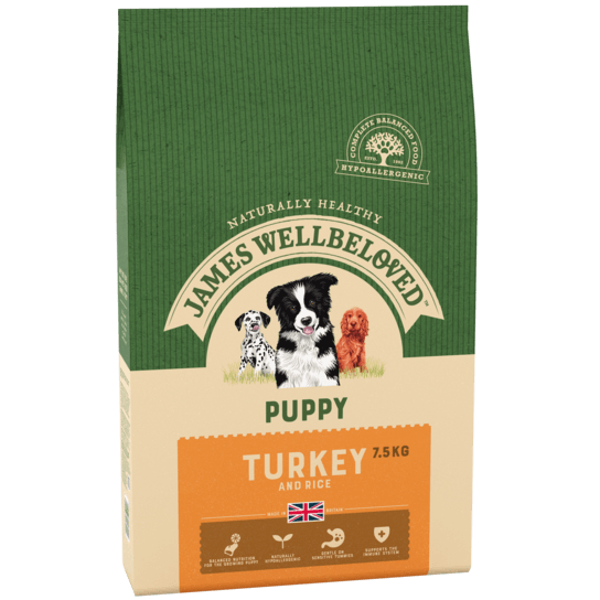 James Wellbeloved Turkey & Rice Puppy Dry Dog Food - 7.5kg