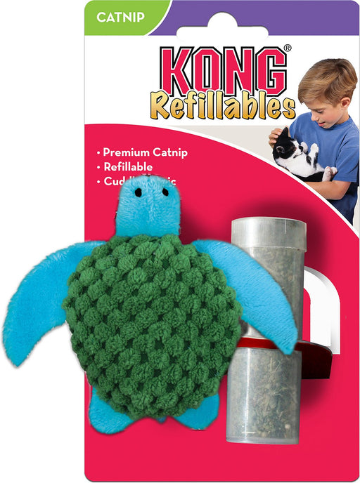 KONG Catnip Refillable Turtle
