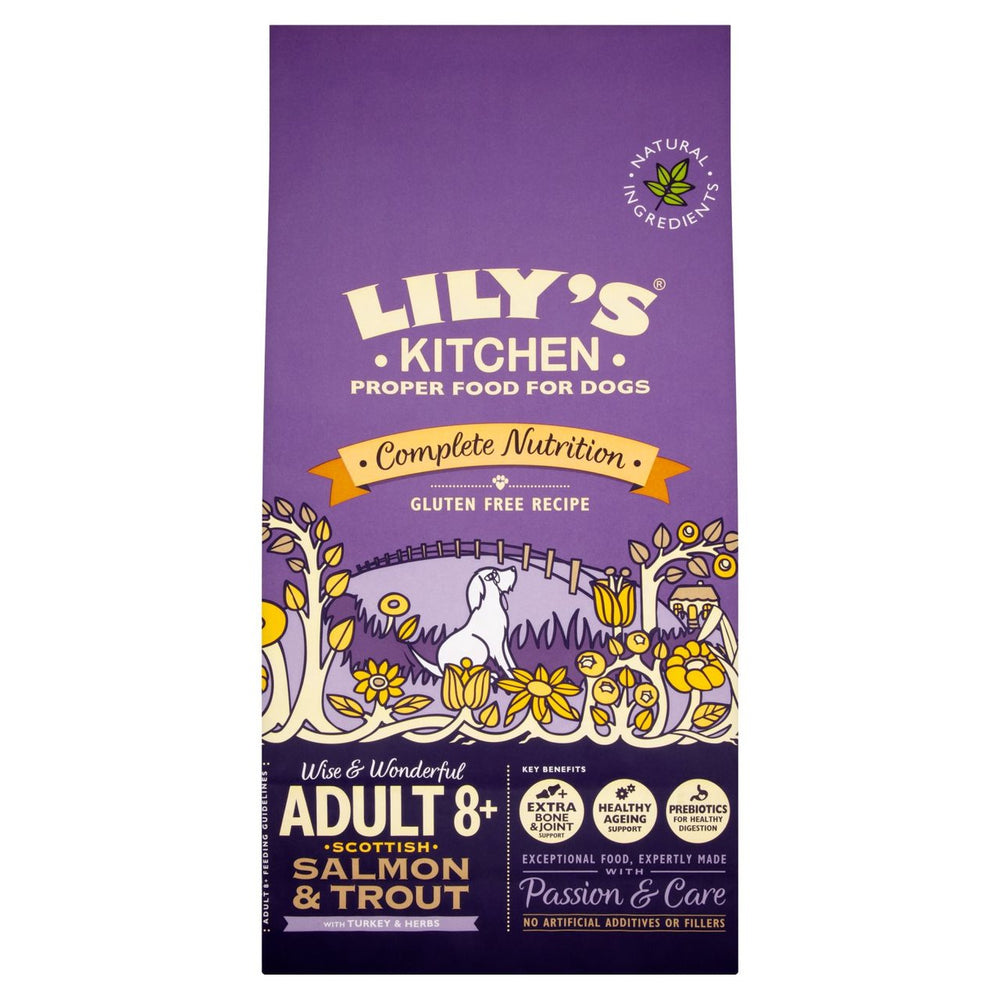 Lily's Kitchen Senior 8+ Scottish Salmon & Trout Dry Dog Food - 7kg