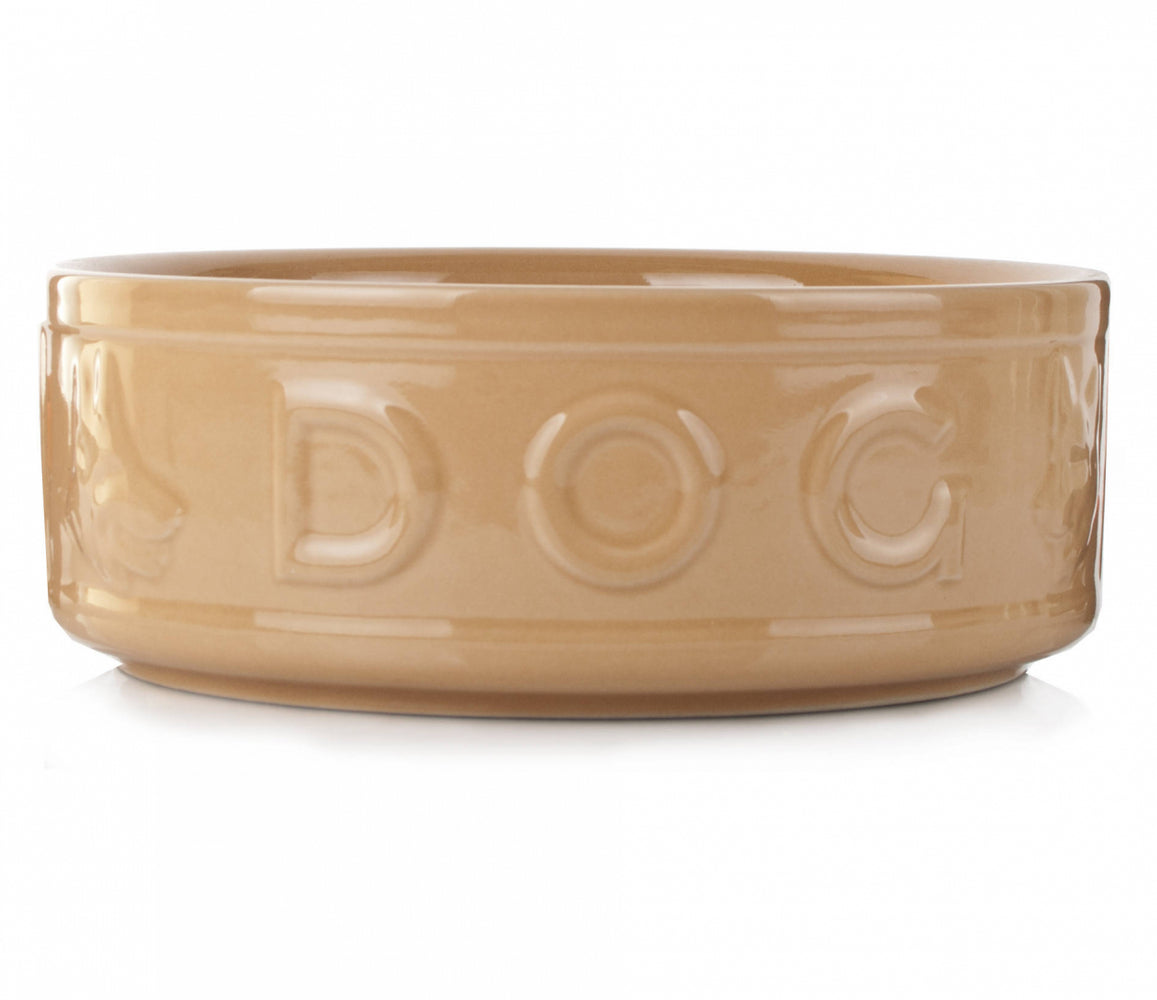 "Mason Cash Lettered Dog Bowl 10"" 1"