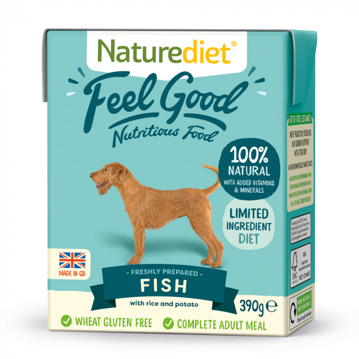 Naturediet Feel Good Fish Dog Food 390g