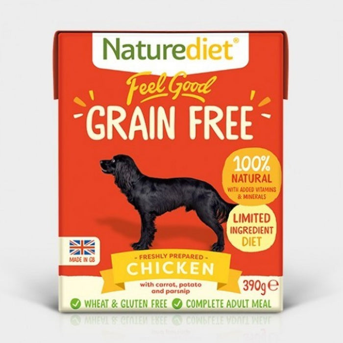 Naturediet Feel Good Grain Free Recipe Chicken Dog Food - 18 x 390g