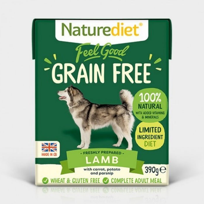 Naturediet Feel Good Grain Free Recipe Lamb Dog Food - 18 x 390g