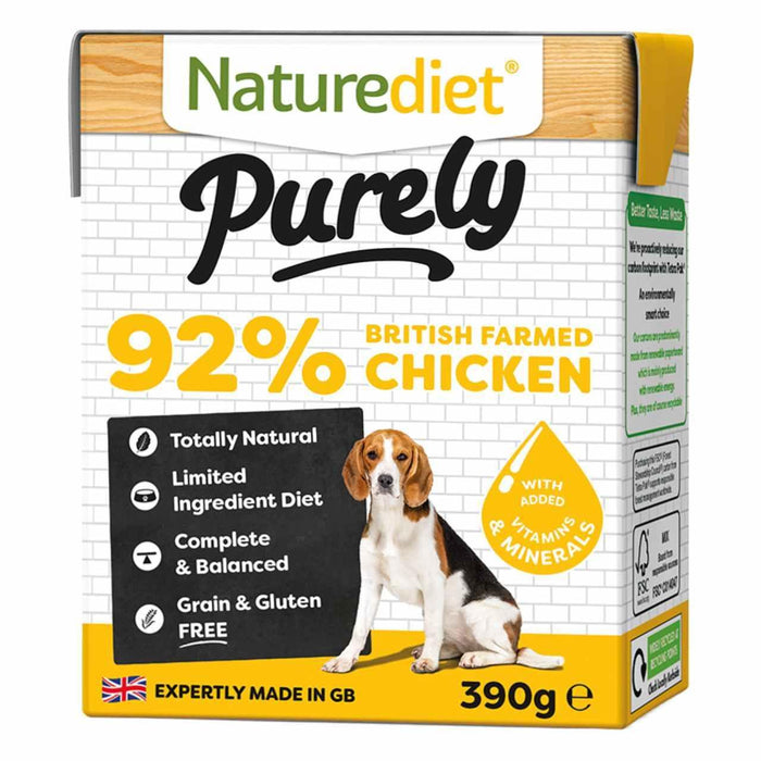 Naturediet Purely Chicken Dog Food - 18 x 390g