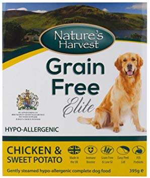 Nature's Harvest Grain Free Elite Chicken and Sweet Potato - 10x395g